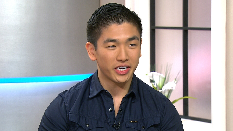 MasterChef Canada winner Eric Chong appears on Canada AM from CTV studios in Toronto, Tuesday, April 29, 2014.