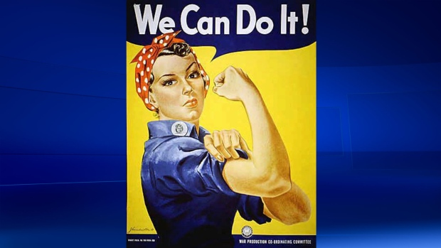 'Rosie the Riveter', a symbol of patriotic American women joining the work force during the Second World War. (AP / File)