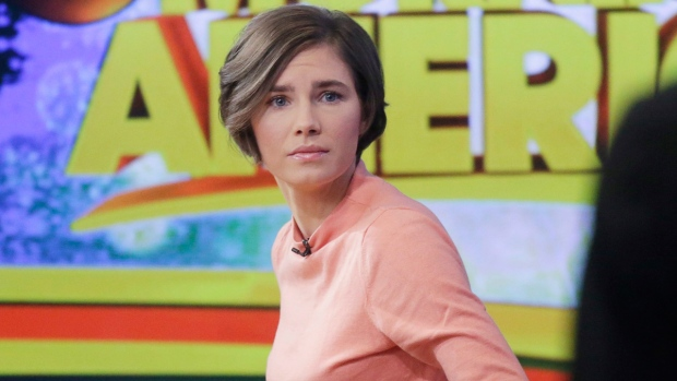 Amanda Knox in New York
