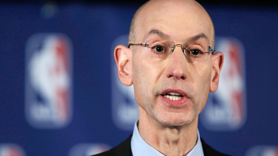 NBA Commissioner Adam Silver addresses the media during a news conference, in New York, Tuesday, April 29, 2014. (AP / Richard Drew)