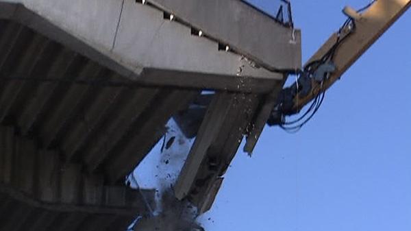 Demolition begins on Lansdowne Park's south-side stands Friday, Nov. 4, 2011.