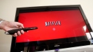 A Netflix customer uses Netflix in Palo Alto, Calif. (AP / Paul Sakuma)