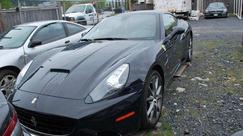 black Ferrari impounded