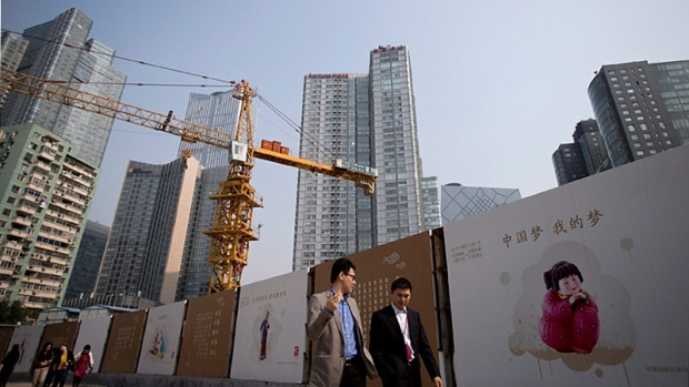 A construction site in Beijing
