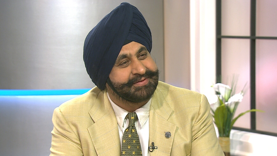 Nav Bhatia appears on CTV's Canada AM on Wednesday morning, April 30, 2014.