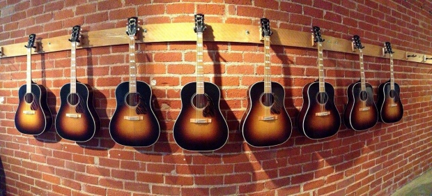 Gibson guitars made from Woody Guthrie's home
