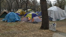 The Occupy Regina protest in Victoria Park is into its third week.
