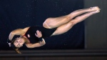 Meaghan Benfeito of Montreal competes in the Women's 10-metre finals at the Gillette Canada Cup Grand Prix diving competition in Gatineau, on Sunday, May 5, 2013. Befeito won the gold medal. THE CANADIAN PRESS/ Patrick Doyle