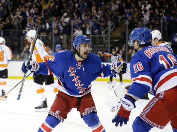 New York Rangers celebrate first round win