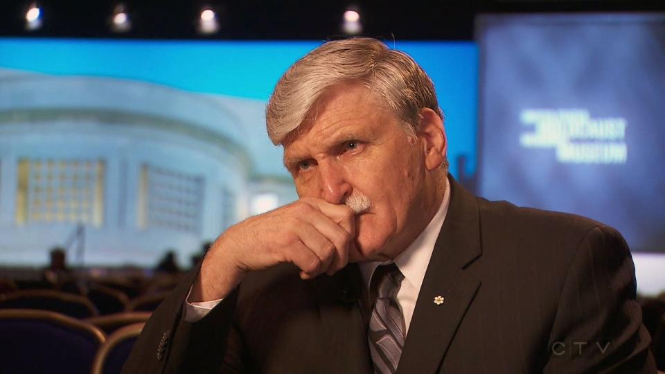 Romeo Dallaire speaks to CTV National News reporter Paul Workman in Washington..