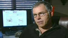 Michael Zuk is seen speaking to CTV News about his purchase in this undated image.