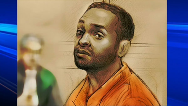Jerome Stephenson, who is facing attempted murder charges, is seen in this court sketch.