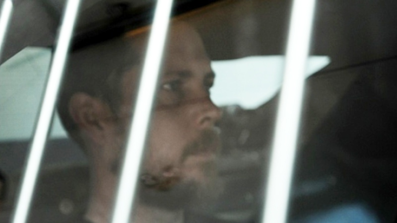 Shooting suspect Kevin Addison arrives for a hearing at Nanaimo provincial court on May 1, 2014. (Nanaimo Daily News)