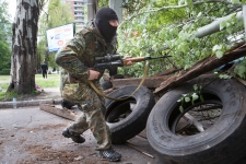 Ukraine forces strike in Slovyansk, Ukraine