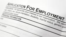 Employment application form in Hudson, N.Y.