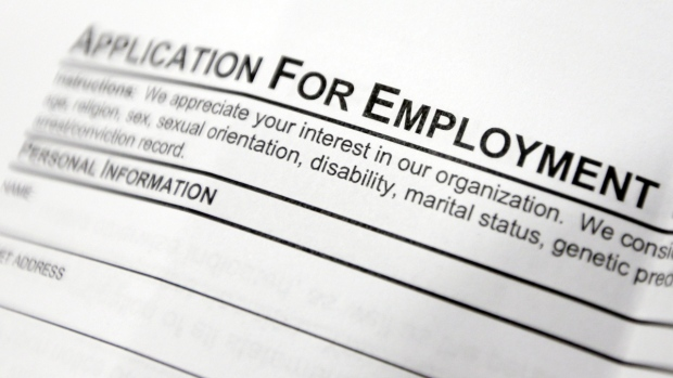 Employment application form in Hudson, N.Y.