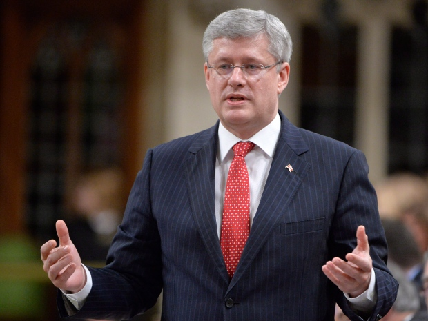 Prime Minister Stephen Harper speaks in Ottawa