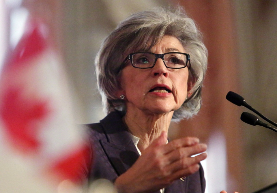 Beverly McLachlin, Chief Justice of the Supreme Court of Canada, delivers a speech in Ottawa, Tuesday, Feb. 5, 2013. (Fred Chartrand / THE CANADIAN PRESS)