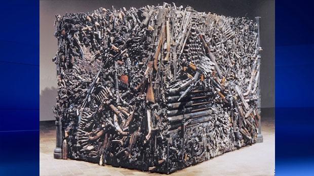 Sandra Bromley gun sculpture