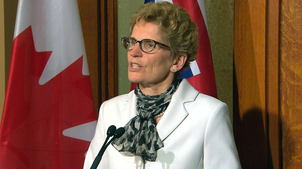 Ontario Liberal Leader Kathleen Wynne speaks at Queen's Park in Toronto, Friday, May 2, 2014.