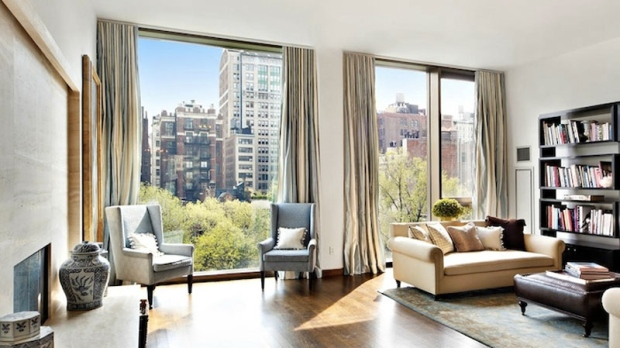 Jennifer Aniston new's apartment has three-bedroom, is 2,873 square foot and is located in New York's exclusive Gramercy Park area. (image courtesy Trulia)