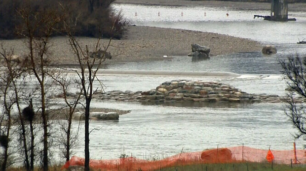 Harvie Passage, Bow River, water course closed, bo