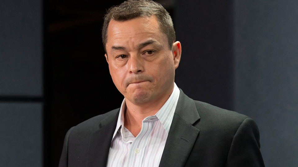 AFN National Chief Shawn Atleo is introduced at a news conference in Ottawa, Friday, May 2, 2014. (Adrian Wyld / THE CANADIAN PRESS)