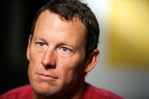 In this Feb. 15, 2011, file photo, Lance Armstrong pauses during an interview in Austin, Texas. (AP Photo/Thao Nguyen, File)