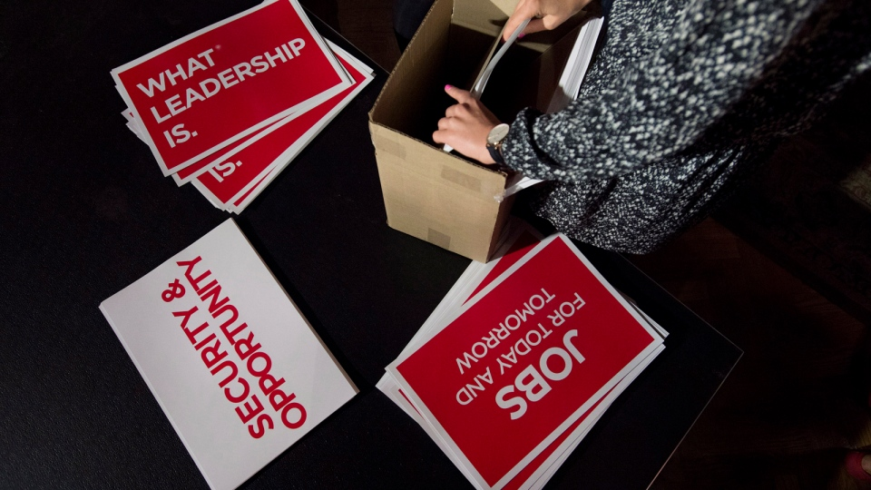 how to get a liberal sign for ontario election