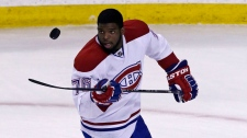 Montreal Canadiens defenseman P.K. Subban flips th