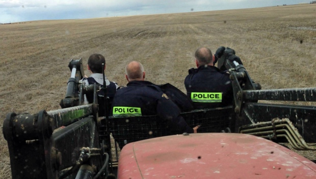 RCMP tractor ride