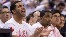 Drake at a Toronto Raptors game