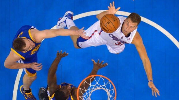 Blake Griffin scores a basket for the LA Clippers