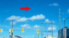What is believed to be a meteor shoots across the sky, north of Toronto, Sunday, May 4, 2014. (ccinhk / YouTube)