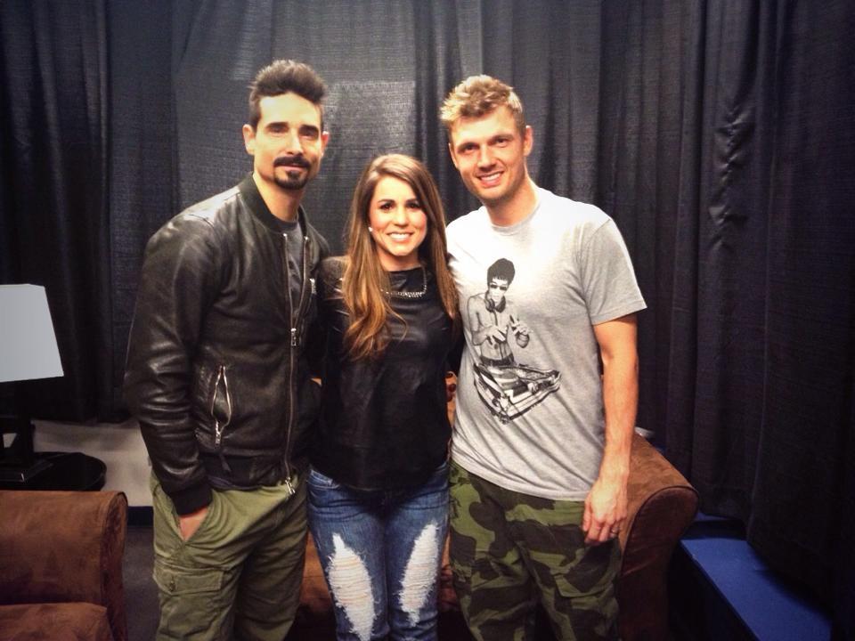 Ana with the Backstreet Boys