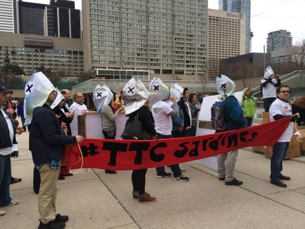 Transit protest city hall