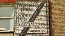 'Ghost sign' hand painted advertisments