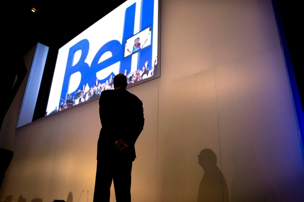 Parent company of Bell Canada lowers benchmark earnings estimate
