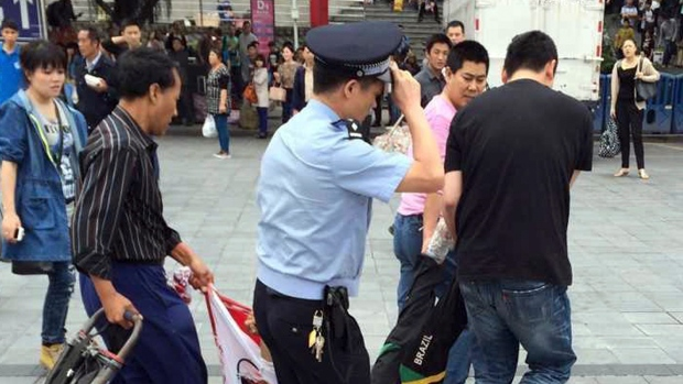 China knife attack at train station