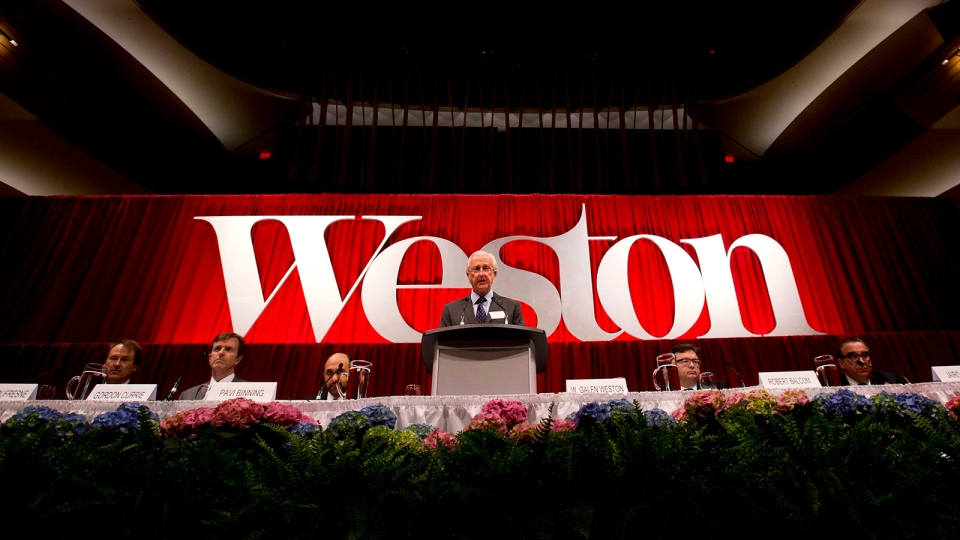 W. Galen Weston, Executive Chairman of grocery giant George Weston Ltd., speaks during the company's annual general meeting in Toronto on Thursday, May 9, 2013. (Nathan Denette / THE CANADIAN PRESS)
