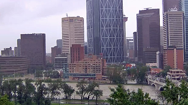 Calgary's downtown core was hit hard in the June 2013 flood.