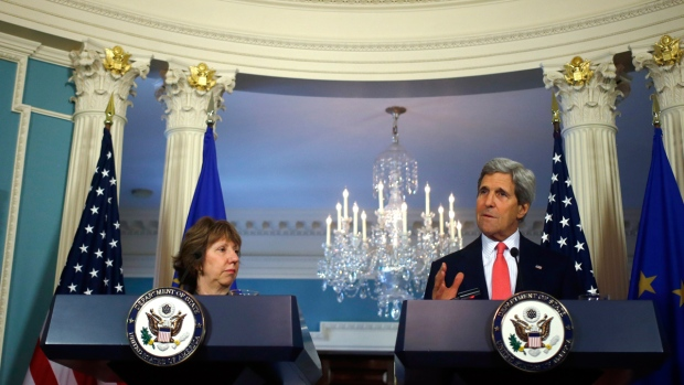John Kerry and Catherine Ashton in Washington