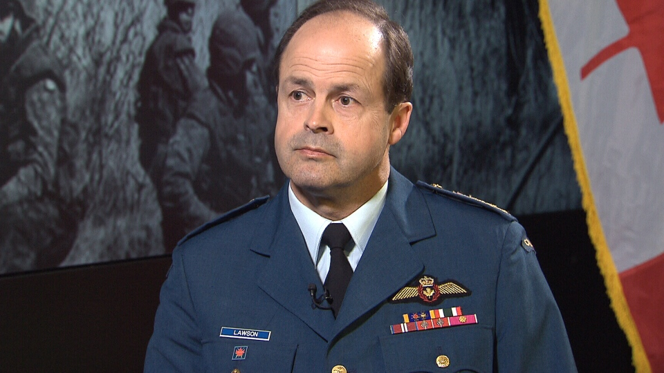 Gen. Tom Lawson, chief of the defence staff, speaks with CTV News in Ottawa, Tuesday, May 7, 2014.