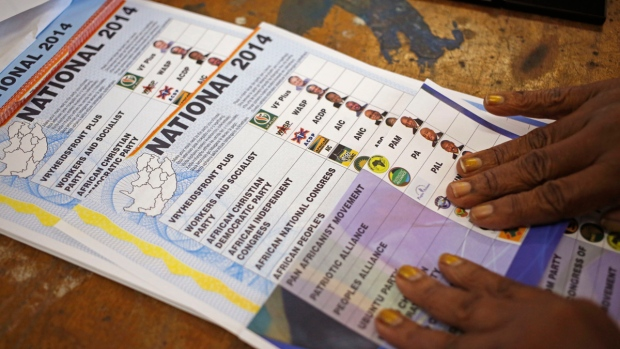 Election ballots in Nyanga, South Africa