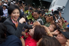 Yingluck Shinawatra supporters in Bangkok