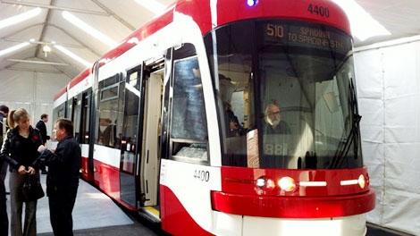 New TTC streetcars.