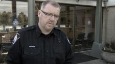 Delta Police Const. Ciaran Feenan talks about sexual assault allegations against a teacher at Delta Secondary. Nov. 10, 2011. (CTV)