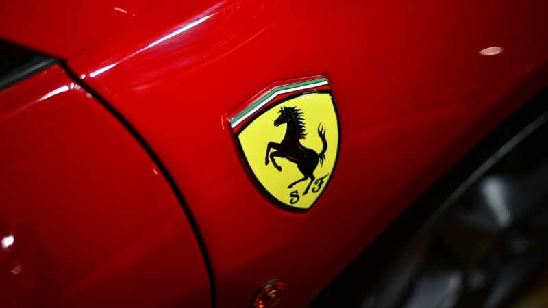 Ferrari logo. (AFP/GABRIEL BOUYS)