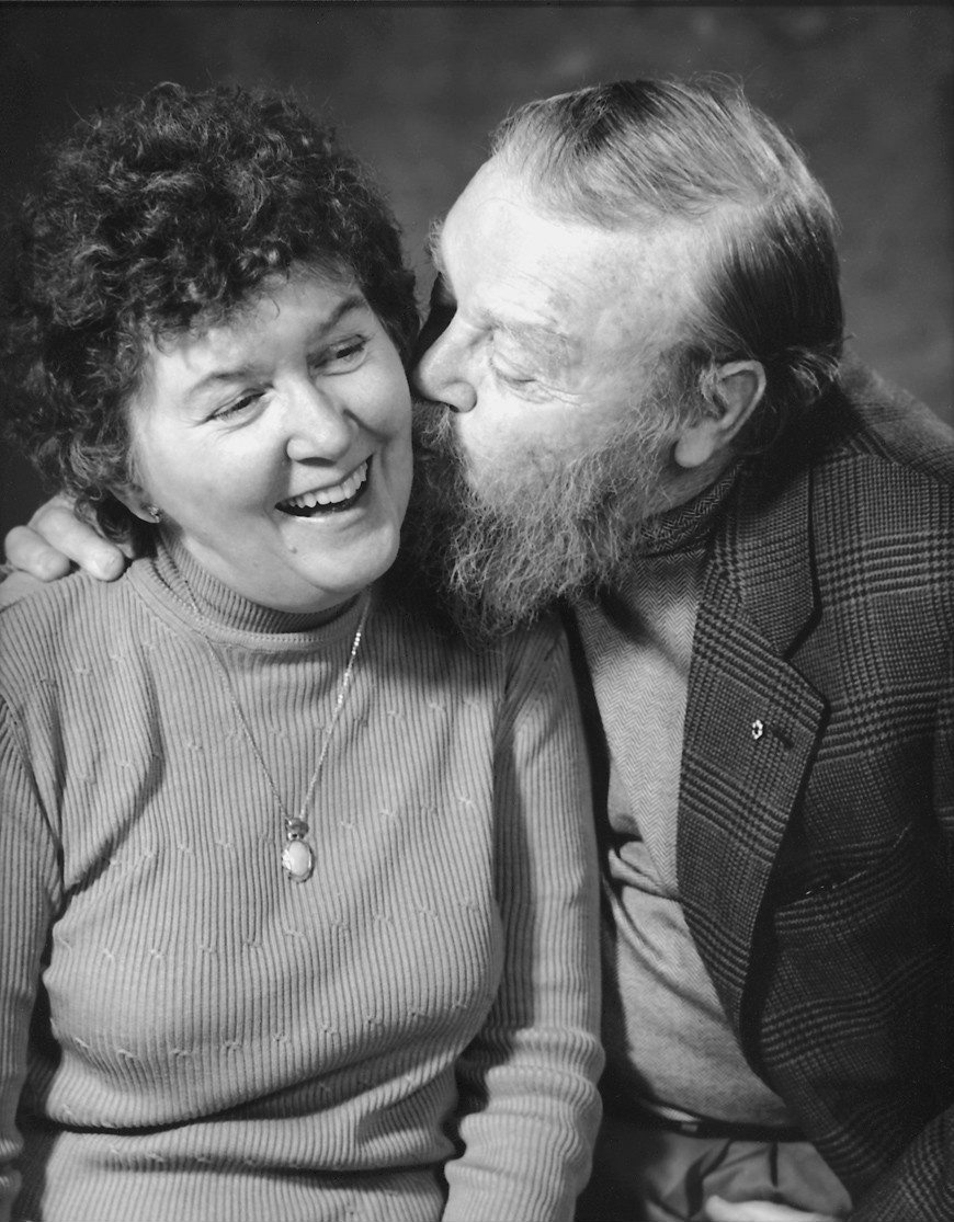 Claire Mowat with Farley Mowat in this undated photo. Beloved Canadian author and activist Farley Mowat has died. He was 92. (THE CANADIAN PRESS)