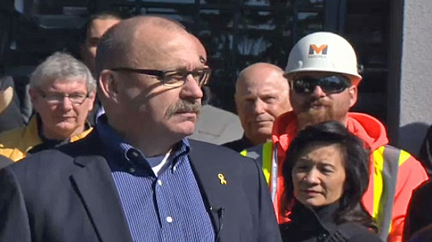 MLA Ric McIver announces his intention to run for the Tory leadership in Calgary on May 7, 2014.